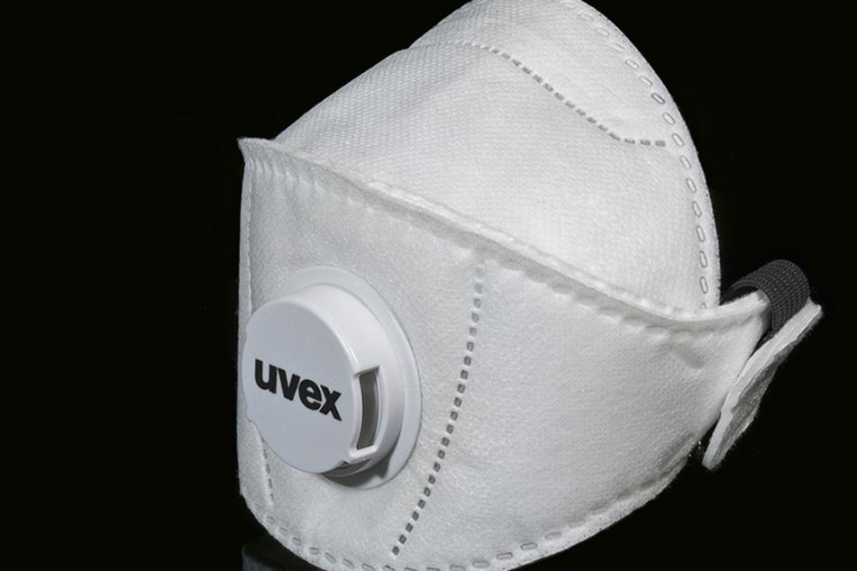 Eine Atemschutzmaske der Schutzklasse FFP3 des Herstellers Uvex.