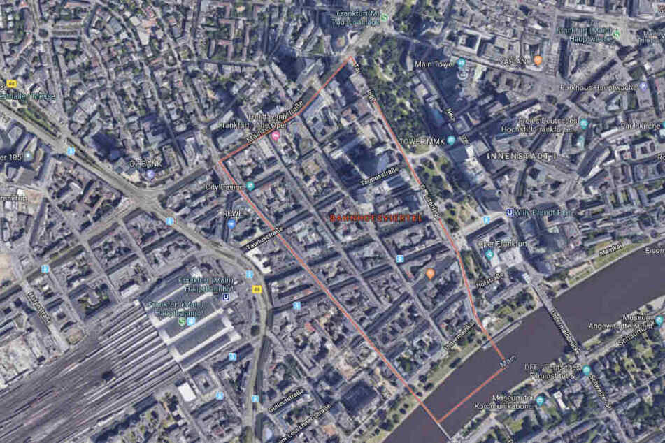 Der Vorfall ereignete sich im Frankfurter Bahnhofsviertel.
