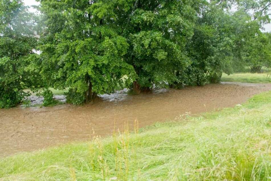 Auch zahlreiche Wiesen standen unter Wasser.