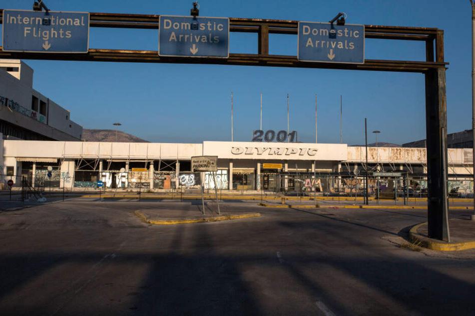 Der Flughafen von Athen.
