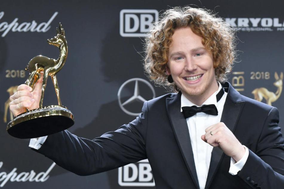 """Am Freitag gewann Schulte seinen ersten Bambi in der Kategorie """"Neue deutsche Musikstars""""."""