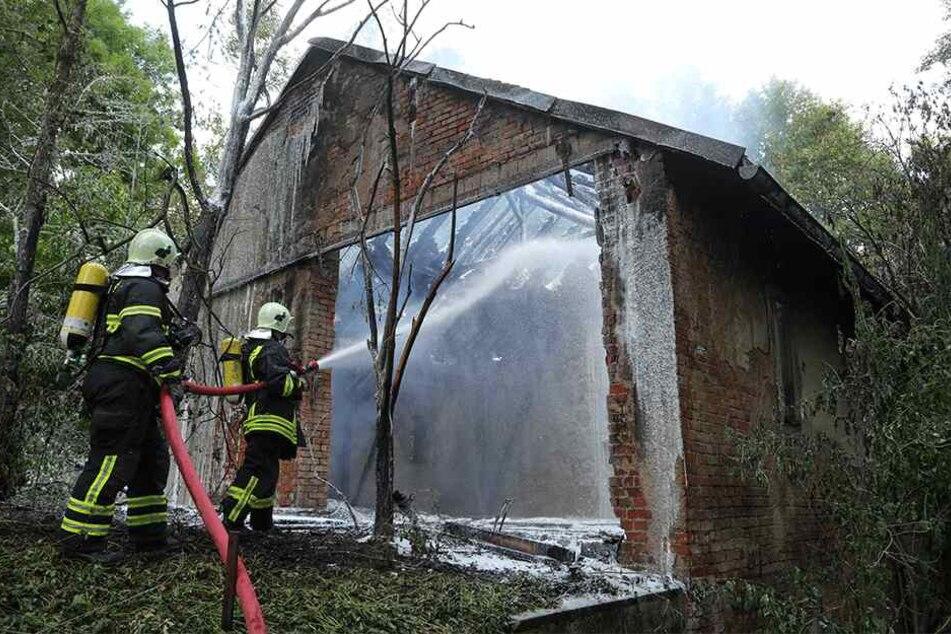 Die Polizei ermittelt wegen Brandstiftung an der Hauswaldmühle.