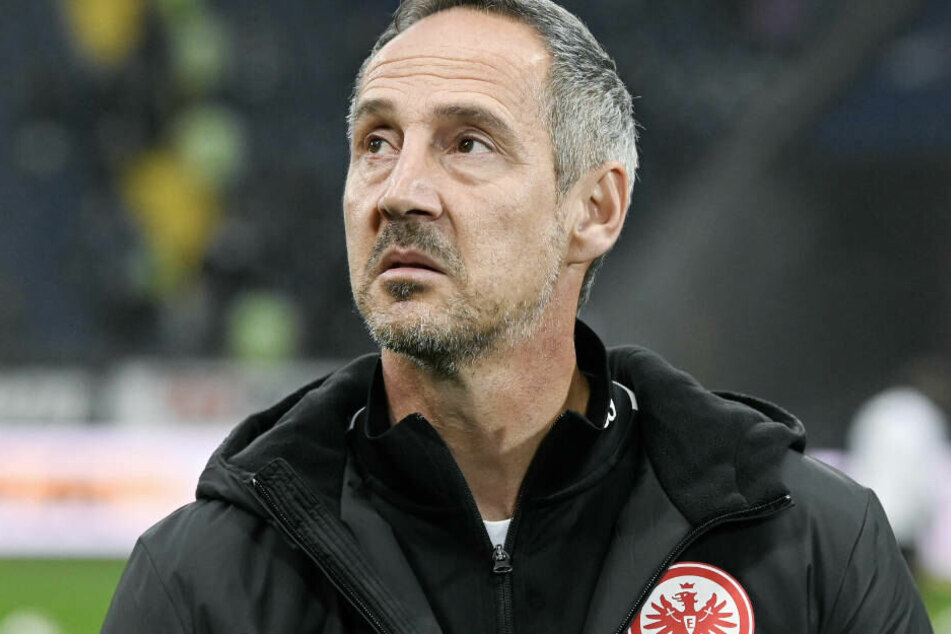 Nur einen Punkt geholt, aber Eintracht-Coach Adi Hütter war trotzdem zufrieden mit der Vorstellung seines Teams.
