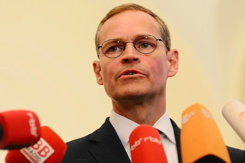 Berlins Regierender Bürgermeister Michael Müller (SPD) gab am Montag ein Statement zur Zukunft des Hauptstadtflughafens ab.
