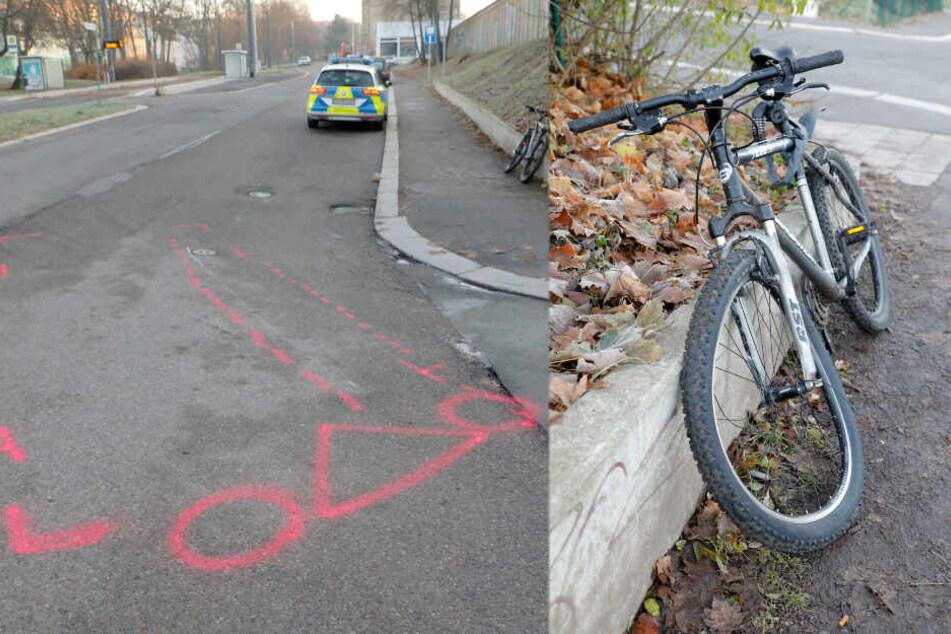 Radunfall in Chemnitz: Auto erfasst Biker