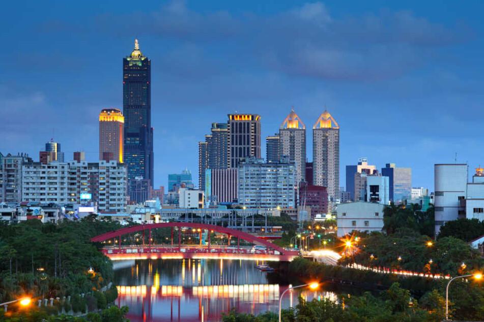 Über die Stadt Kaohsiung erreichten die Touristen Taiwan.