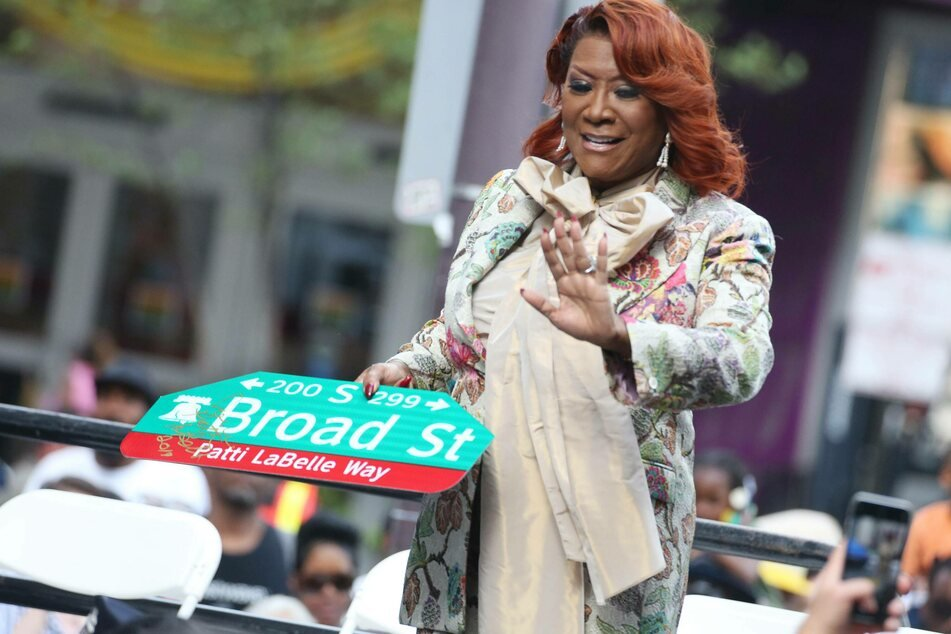 Soul legend Patti LaBelle at a ceremony celebrating the dedication of a Philadelphia street to her.