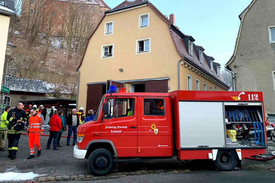 Kameraden der Freiwilligen Feuerwehr Liebstadt waren im Einsatz.
