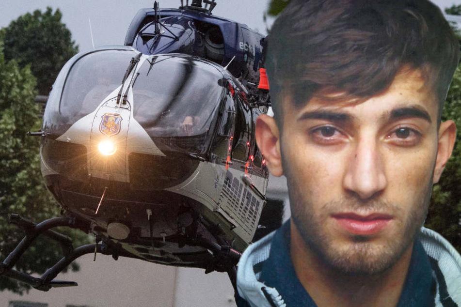 Mit diesem Polizeihubschrauber war Ali Bashar am Samstagabend in das Polizeipräsidium Westhessen gebracht worden.
