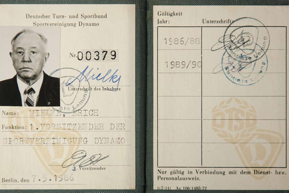 Mielkes Dynamo-Ausweis ist schon im Oktober geklaut worden.