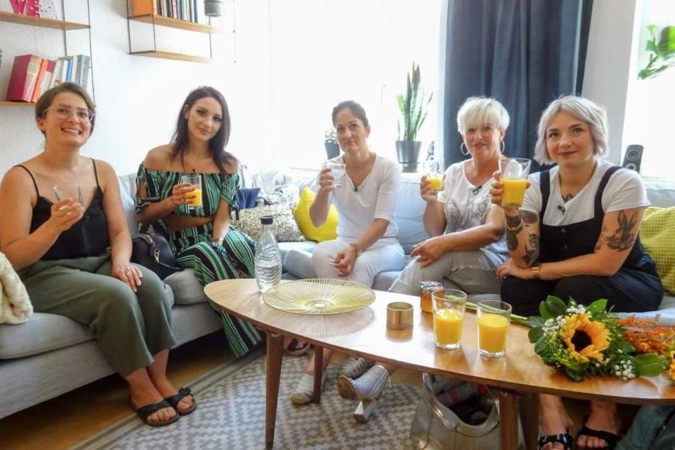 """Diese fünf Frauen wollen Leipzigs """"Shopping Queen"""" werden: Alexandra, Lydia, Diana, Uschi und Juliane (v.l.n.r.)."""