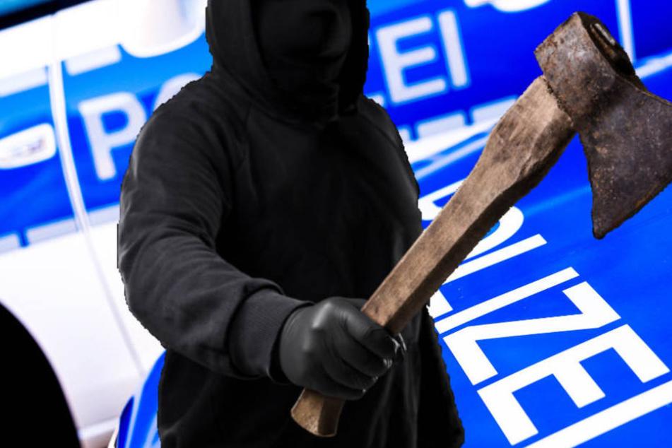Betrunkener Randalierer bedroht Polizei mit der Axt