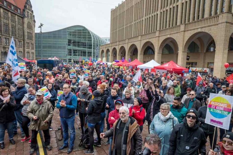 Die DGB-Kundgebung auf dem Neumarkt.