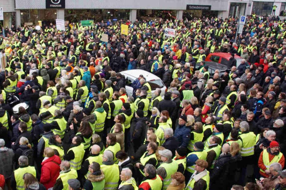 Demo 2. Februar: Nach Polizeiangaben soll es sich um 800 Teilnehmer bei der Demonstration gehandelt haben.