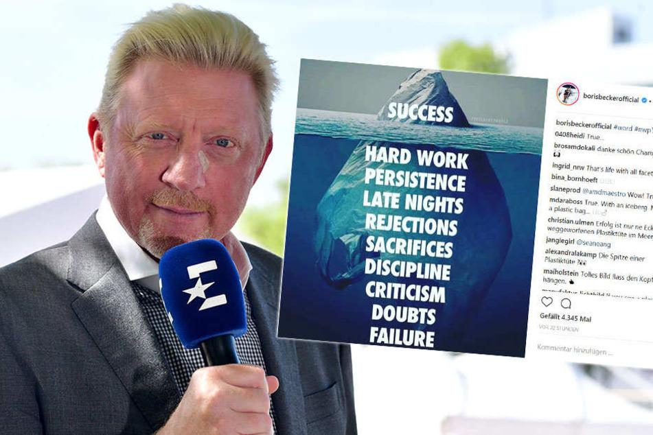 Treffsicher ins Fettnäpfchen: Boris Becker blamiert sich auf Instagram