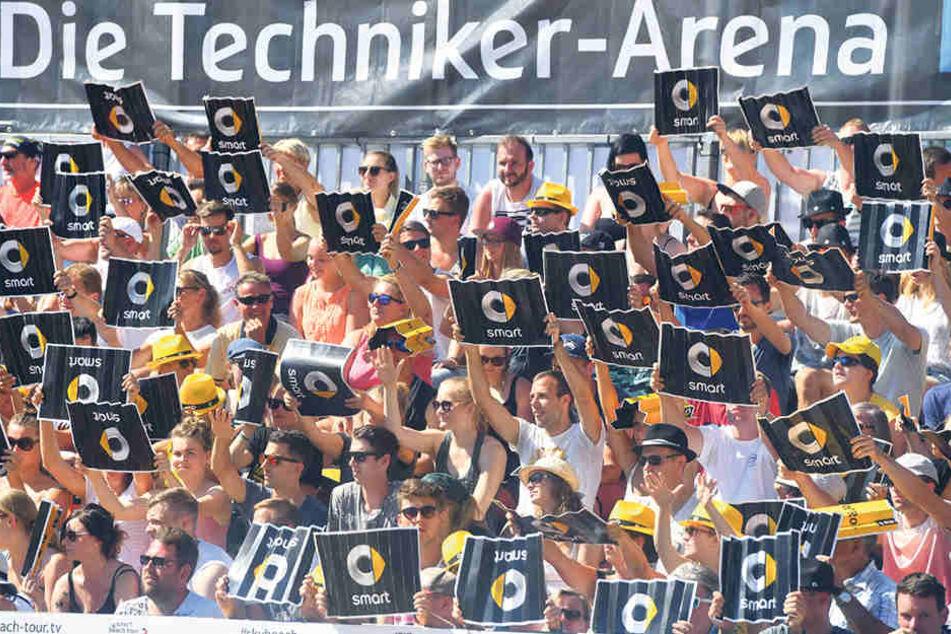 Tolle Stimmung auf den Tribünen: Insgesamt 30.000 Besucher kamen an den drei Turniertagen.