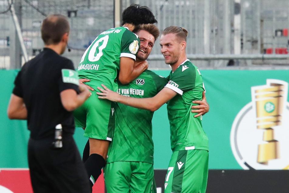 Hannover 96 hat nicht nur mit Genki Haraguchi (2.v.l.), Hendrik Weydandt (2.v.r.) und Marvin Ducksch viele herausragende Zweitliga-Spieler in den eigenen Reihen.