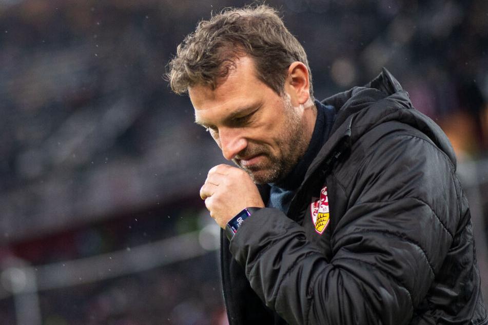 Beim VfB vor dem Aus: Coach Markus Weinzierl stand in Düsseldorf noch an der Seitenlinie.