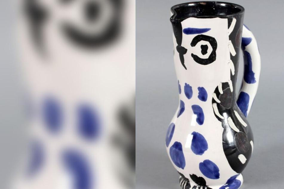 Den Keramikkrug von Pablo Picasso ließ der Mann im Zug liegen.