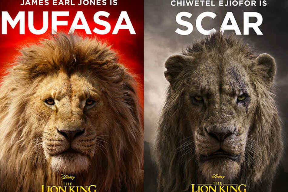 Mufasa und sein durchtriebener Bruder Scar sehen fantastisch aus! (Bildmontage)