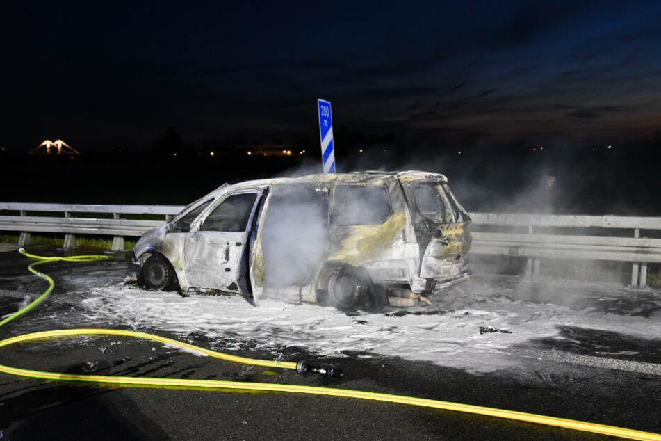 Der Fahrer des Van blieb glücklicherweise unverletzt.