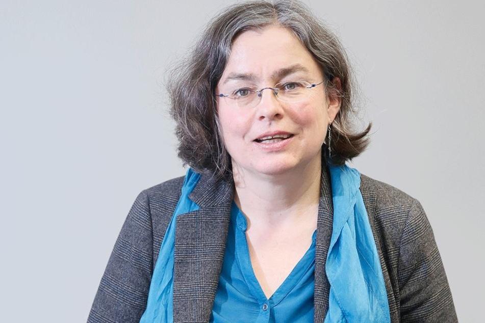 Umweltbürgermeisterin Eva Jähnigen (51, Grüne) will Fahrverbote für Dresden  vermeiden.