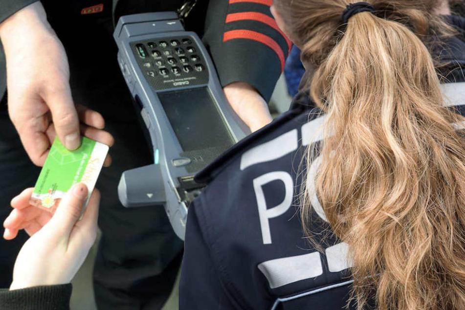 Eine Berliner Polizistin (42) wollte den Kontrolleuren helfen und wurde von der jungen Schwarzfahrerin verletzt. (Bildmontage)