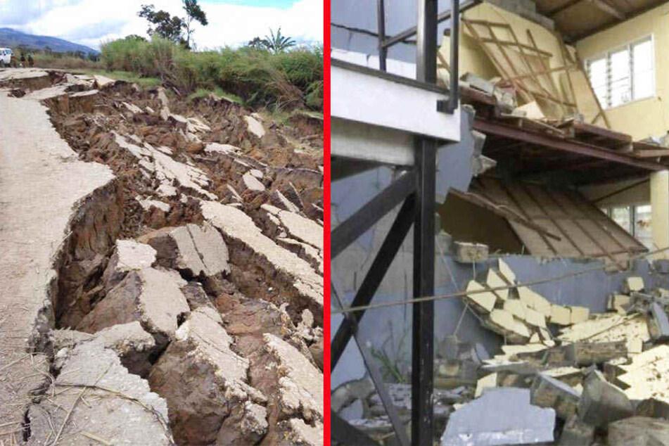 Bei dem Beben der Stärke 6,7 seien zudem schwere Schäden an Gebäuden und Straßen entstanden.