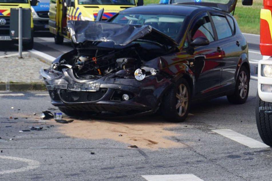 Dem Seat Alterra wurde die Vorfahrt genommen. Sein 67-Jähriger Fahrer wurde verletzt.