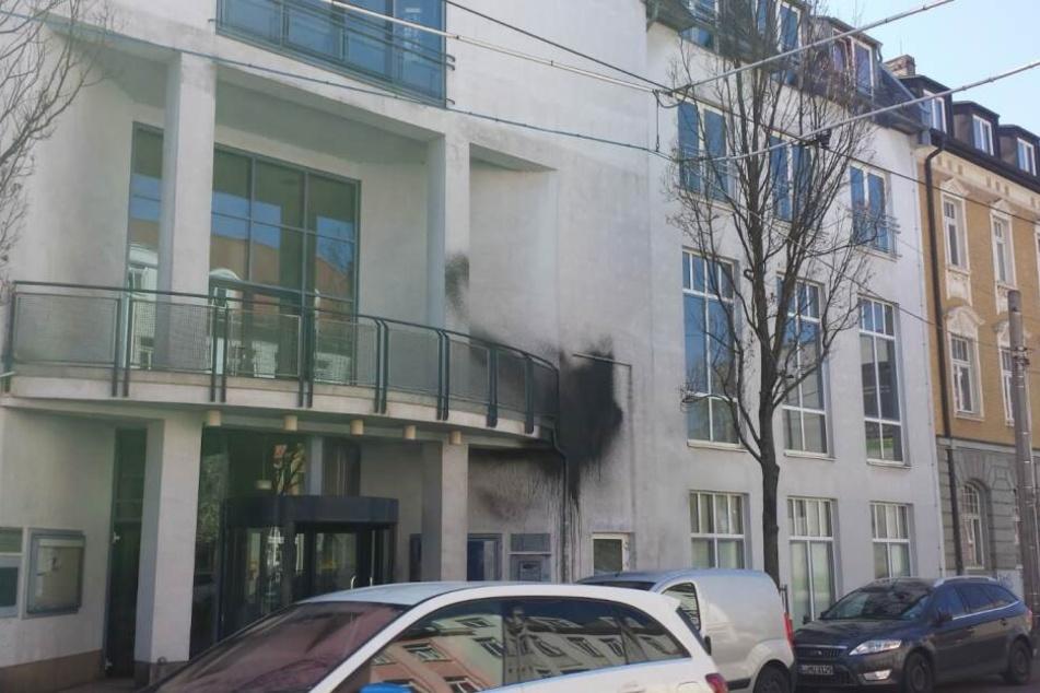 """Das soziokulturelle Zentrum """"Große Eiche"""" im Leipziger Stadtteil Böhlitz-Ehrenberg ist in der Nacht Opfer einer Farbattacke geworden."""