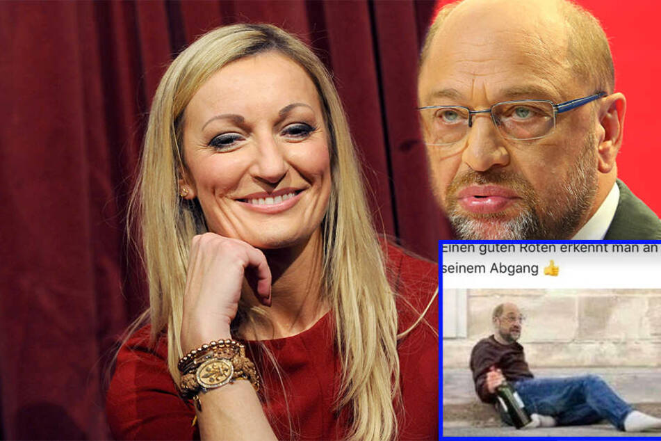 Rotwein-Spruch: Comedian Monika Gruber disst SPD-Chef Schulz