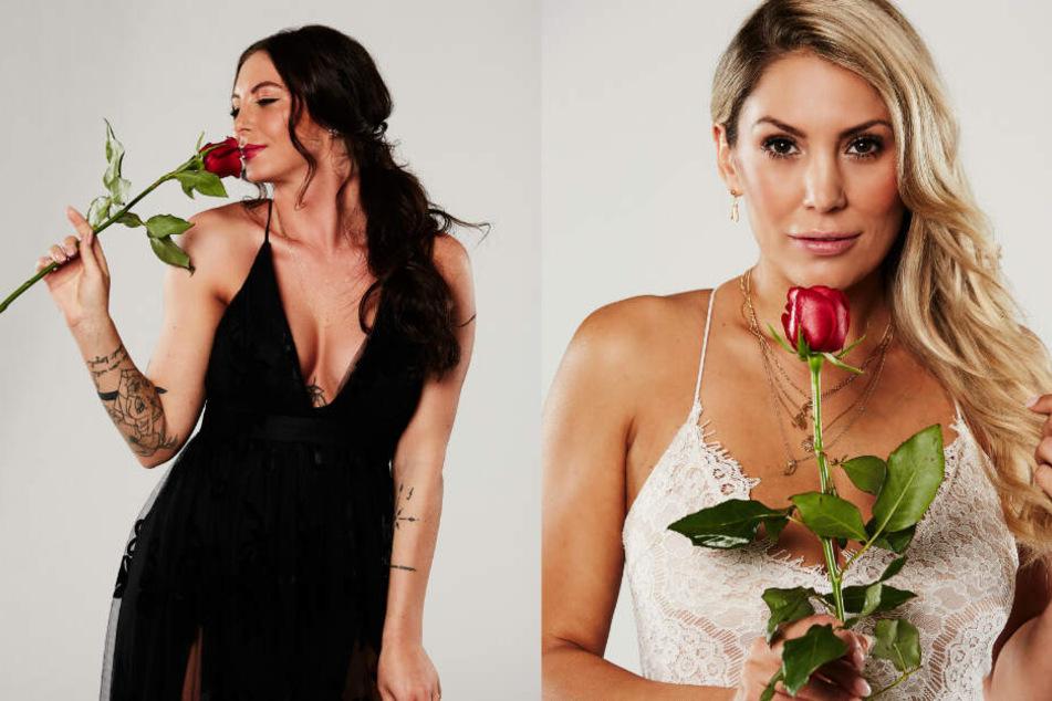 Jenny-Jasmin (l) und Jenny T. schmeißt der Bachelor in der Nacht der Rosen raus.