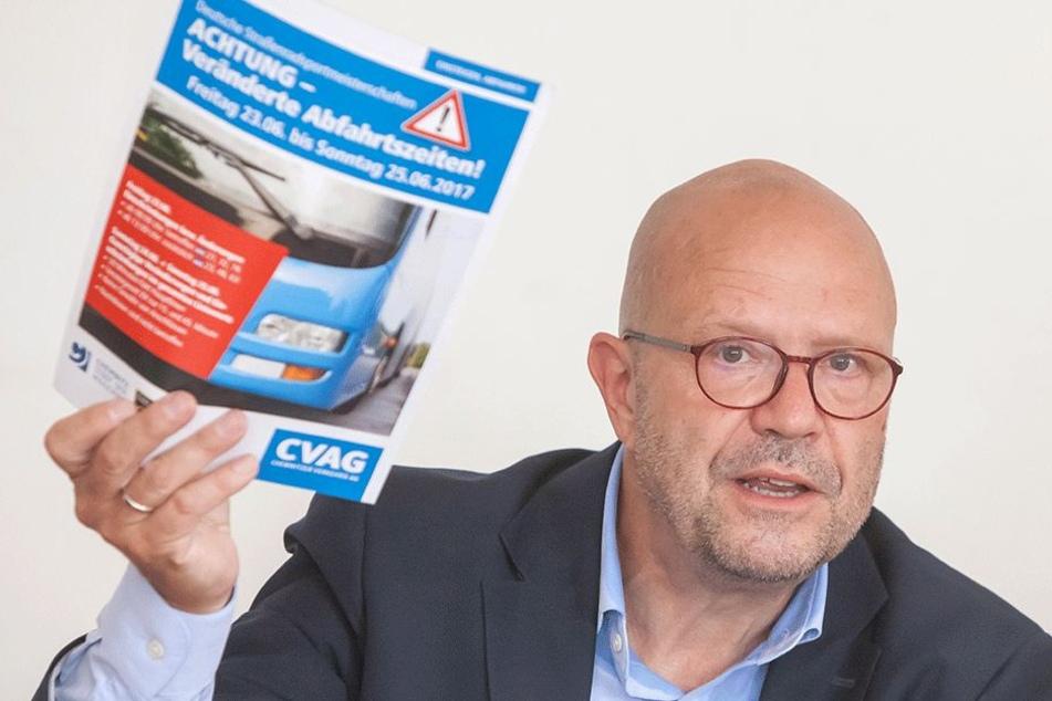 CVAG-Sprecher Stefan Tschök (60) sieht Gesprächsbedarf, aber keine schnellen Lösungen.