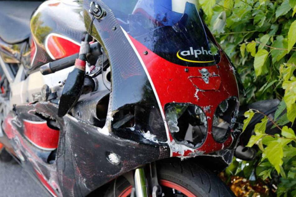 Das Motorrad von Tilo U. im Juni 2016. Er starb vier Tage nach dem Horror-Crash.