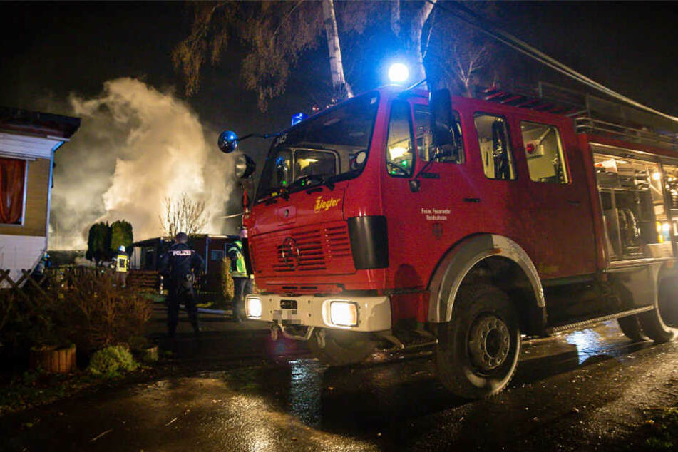 Zahlreiche Einsatzkräfte der Feuerwehr waren bei dem Brand in Heidesheim vor Ort.