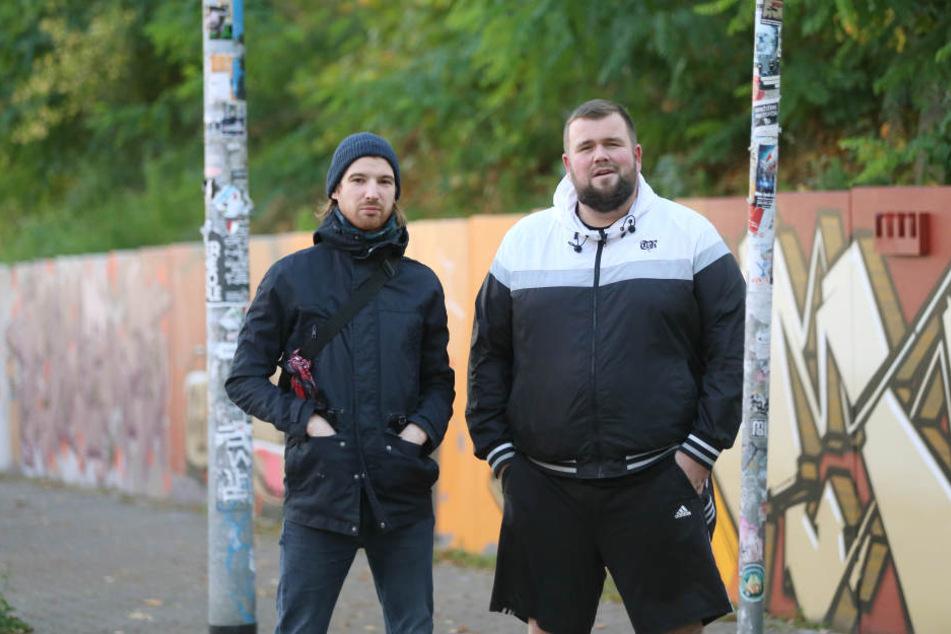 """Christoph Sell (links) und Jan """"Monchi"""" Gorkow von """"Feine Sahn Fischfilet""""."""
