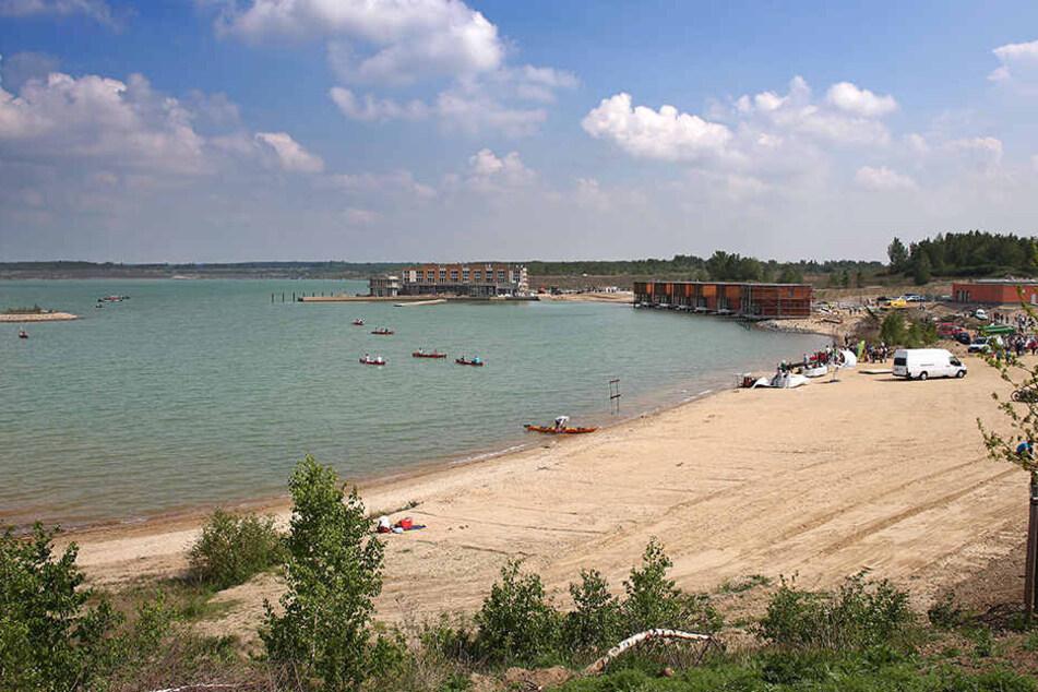 Innerhalb weniger Jahre wurde das Wasser des Störmthaler Sees südlich von Leipzig sauer.