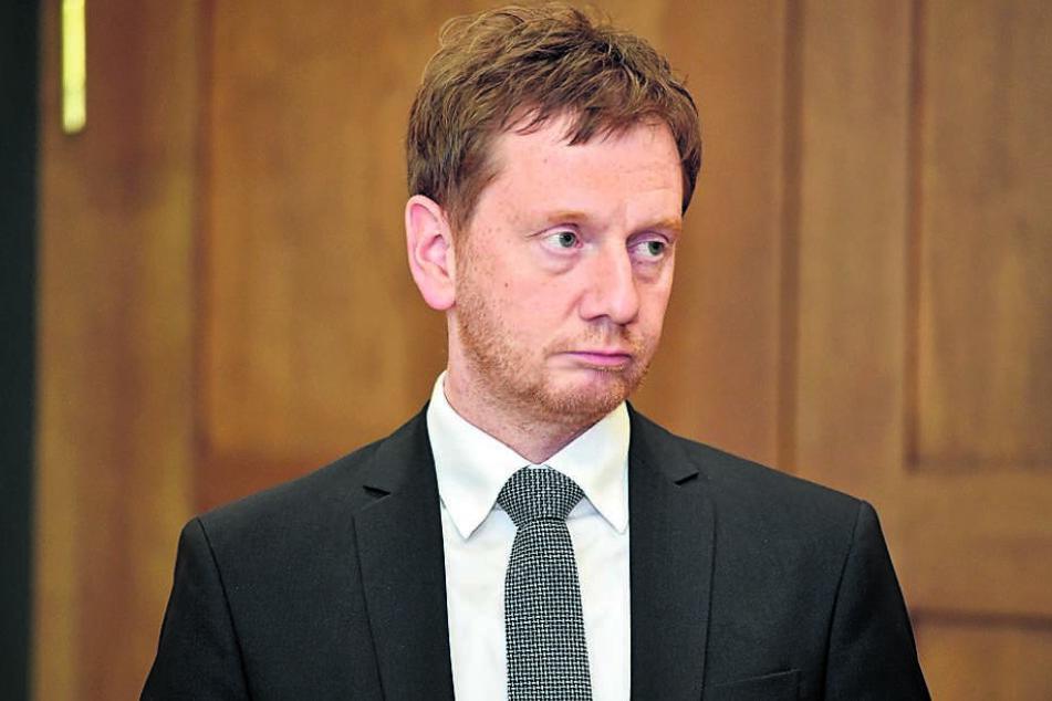 Ministerpräsident Michael Kretschmer (43, CDU) ist seit einem knappen Jahr im Amt.