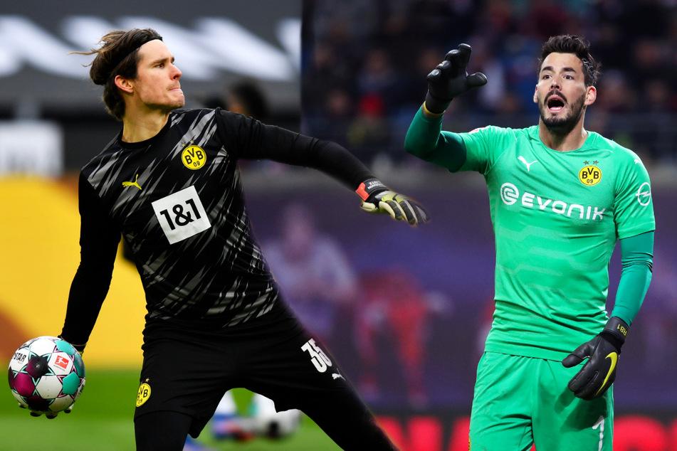 Marwin Hitz (33, l.) und Roman Bürki (30) sind zweifelsfrei gute Bundesliga-Keeper, konnten starkes Champions-League-Niveau aber nicht konstant nachweisen.