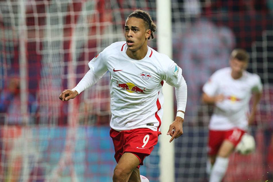 Yussuf Poulsen (22) erlebte zwei Aufstiege mit RB Leipzig.