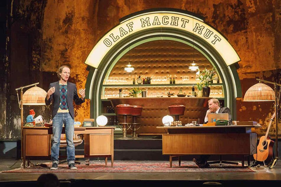 Olaf Schubert und Julius Fischer versuchten, ihr Publikum zum Lachen zu bringen.