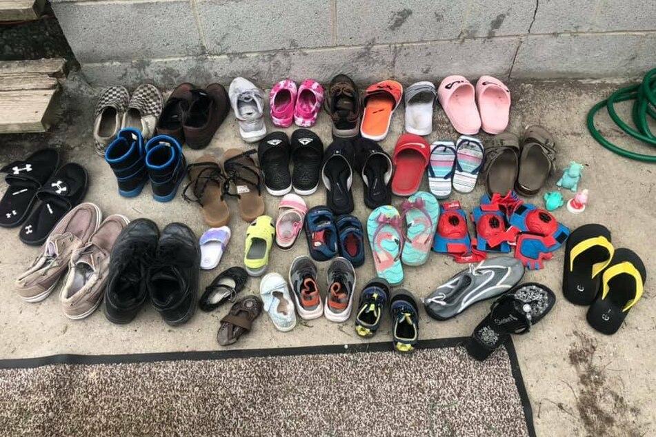 Katze Jordan hat inzwischen eine beträchtliche Anzahl an Schuhen eingesammelt.