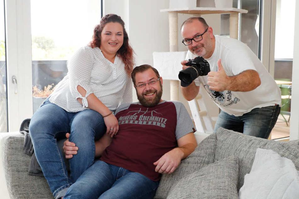 Mit einer sehr eigenen Fotoidee brachte Carina Kuhn (32) ihren Mann Thomas (40) und Fotograf Daniel Ivandic (36) ins Schwitzen.