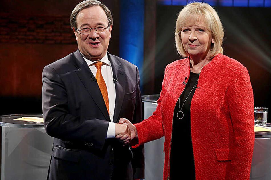 Armin Laschet (CDU) und Hannelore Kraft (SPD) beim großen TV-Duell am 2. Mai.