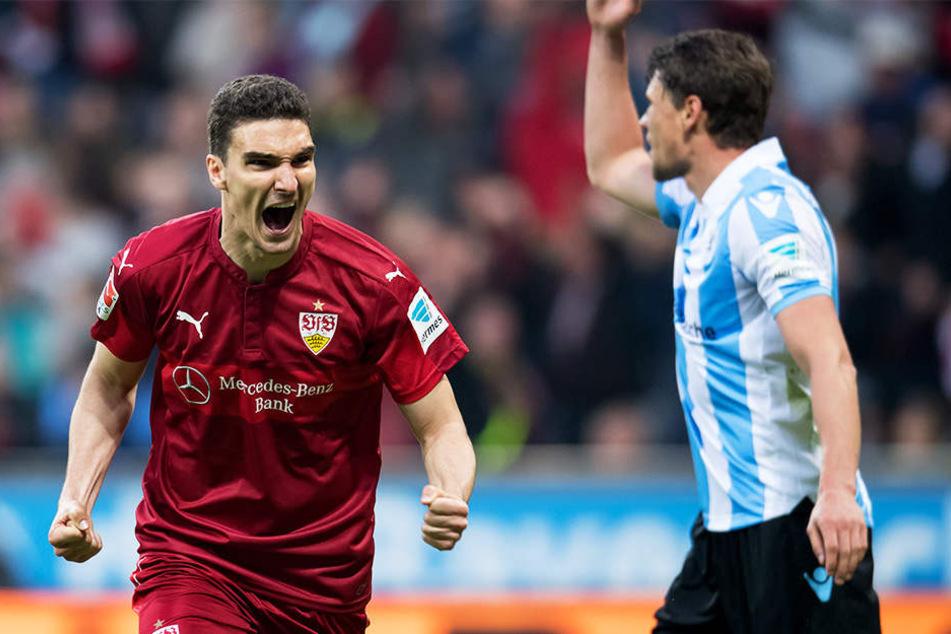 Wird in Zukunft nicht mehr für den VfB Stuttgart jubeln: Abwehrspieler Marcin Kaminski wechselt zu Fortuna Düsseldorf.