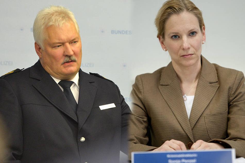 Er muss seinen Chefsessel räumen: Uwe Reißmann (62,l.). Sie ist die heißeste Kandidatin: Sonja Penzel (45,r.)