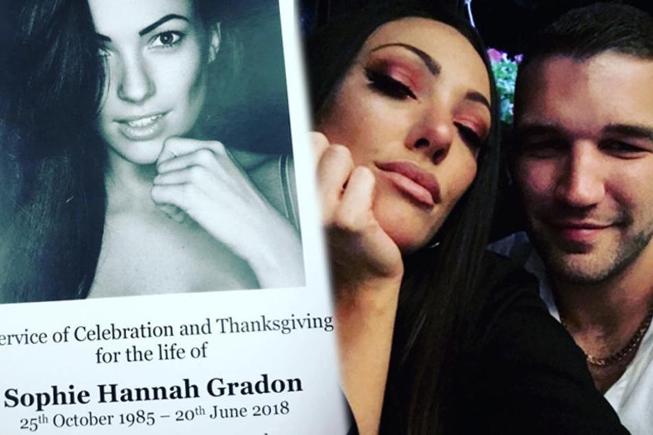 Nach dem Tod von Sophie Gradon wollte offenbar auch ihr Freund Aaron Armstrong nicht mehr weiterleben.