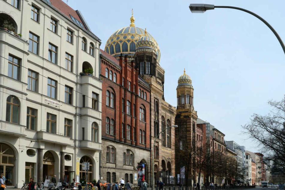 Die Neue Synagoge in der Oranienburger Straße in Berlin-Mitte.