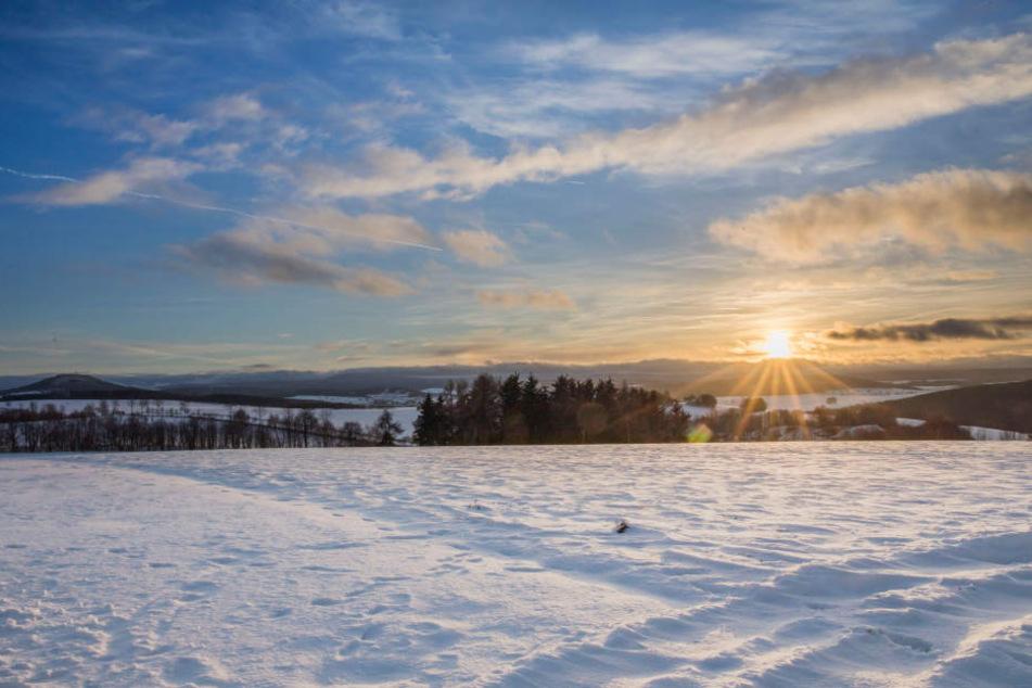 Am Montag kam auch die Sonne heraus und machte das Winterwetter perfekt.
