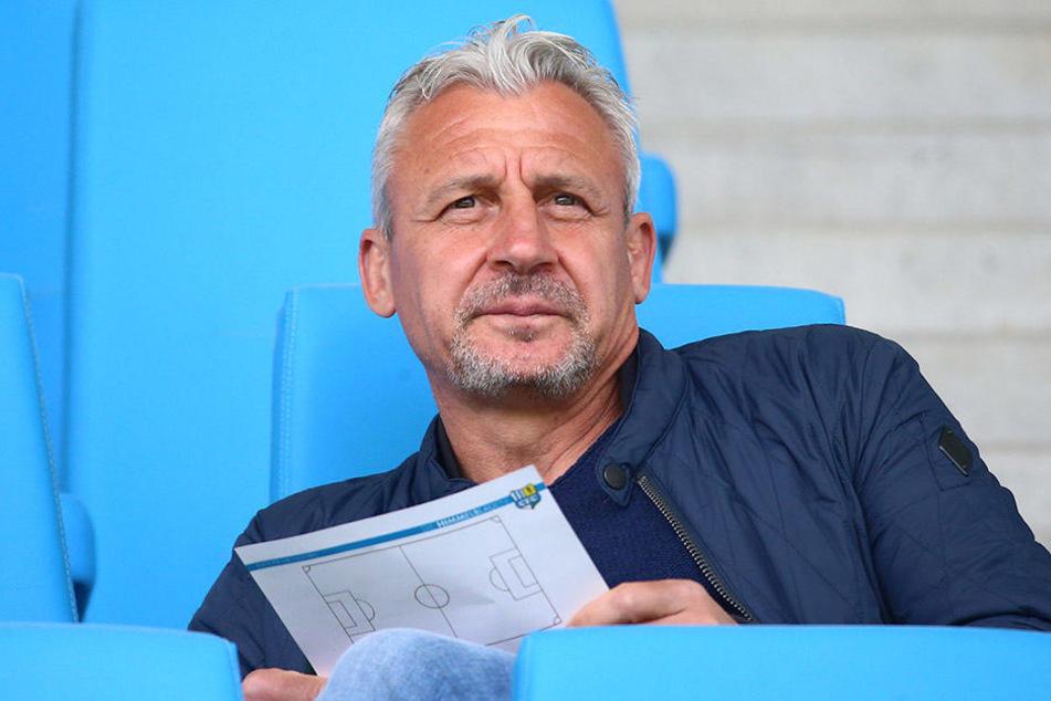 Pavel Dotchev trainierte Aue von 2015 bis 2017. Ab kommender Saison coacht der Bulgare Hansa Rostock.